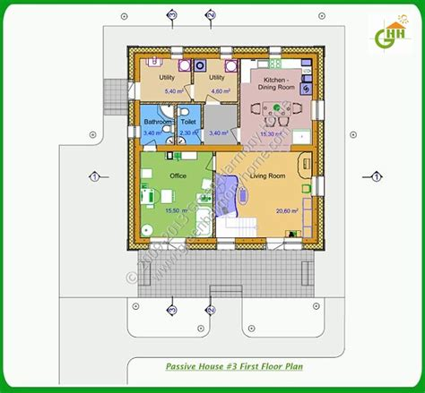 passive house floor plans green passive solar house plans 3