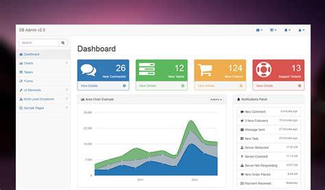 قوالب لوحة تحكم bootstrap admin dashboard templates