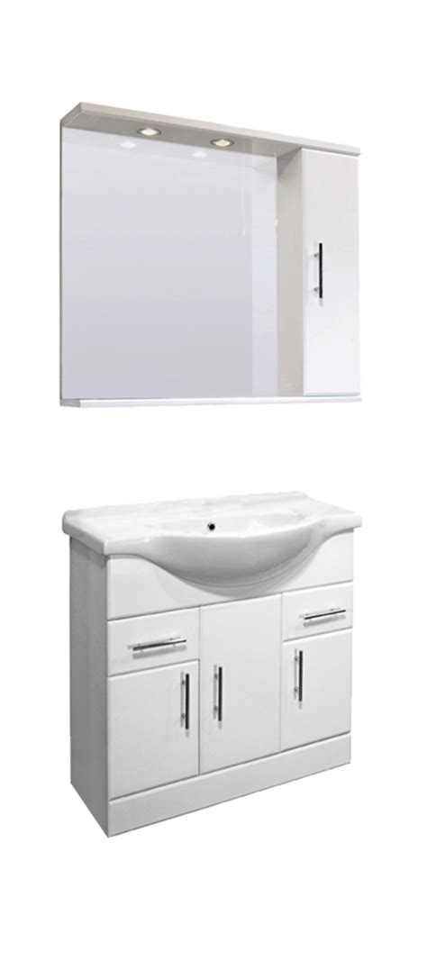 Bathroom Mirror Unit Bathroom Vanity Unit Illuminated Mirror Wall Cabinet Tap Opt Cloakroom Furniture Ebay