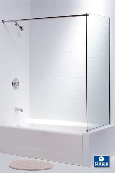 bathtub panel frameless glass shower spray panel oasis shower doors ma