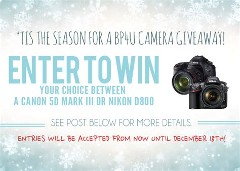 Camera Giveaway 2014 - photography tips for photographers and posing guides photography marketing templates