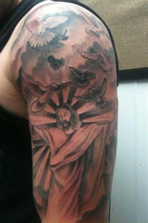 jesus tattoo with clouds 25 inspiration jesus tattoos