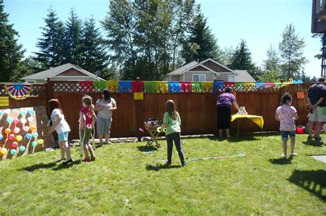 backyard carnival party ideas madelyn turns 9 birthday party ideas photo 4 of 26