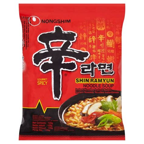 Nongshim Shinramyun Cup Noodle Soup morrisons nong shim shin ramyun noodles 120g product information
