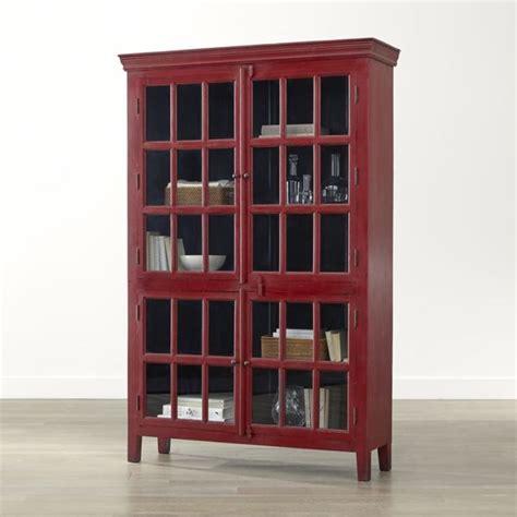 crate and barrel china cabinet crate barrel rojo red tall cabinet crates barrels and