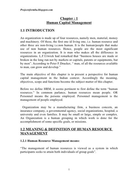 Mba Notes Of Human Resource Management by Human Resource Management E Notes