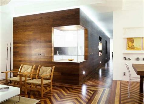 remarkable modern interior design twines around wood architectural features