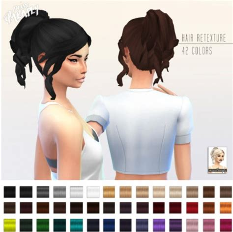 ponytailsims 4 child miss paraply retexture of curly ponytail by kiara24