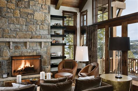 interior design rustic chic mountain chic rustic living room other metro by