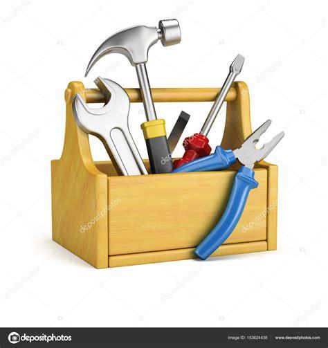 cassetta degli attrezzi cassetta degli attrezzi con utensili foto stock