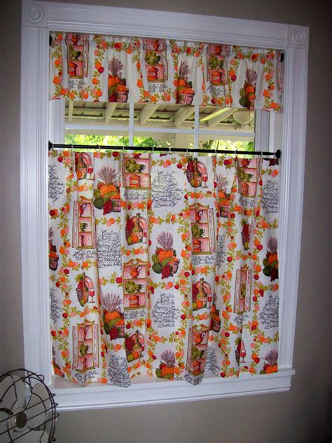 thanksgiving kitchen curtains vintage kitchen curtains set tiers cafe valance pinch