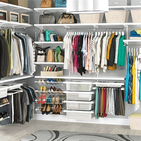 The Container Store Closets by White Elfa D 233 Cor His Hers Closet The Container Store
