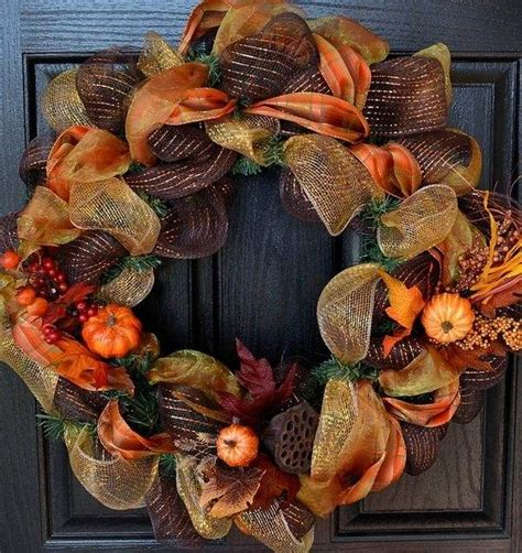 Diy Fall Wreaths Design Ideas Fall Deco Mesh Wreath Ideas Inspiring Autumn Decor For The House