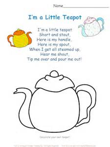 i m a little teapot free esl song sheets