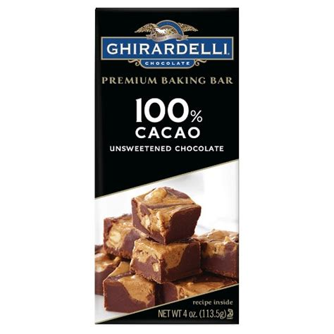 top 100 chocolate bars baking bar ghirardelli 100 cacao 4oz target