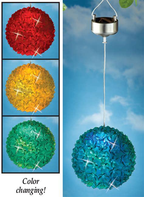 solar power hanging christmas balls solar power lighted color changing hanging flower light patio deck summer ebay