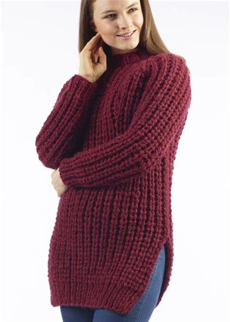 womens jumper knitting patterns free yana chunky ribbed jumper free knitting pattern material