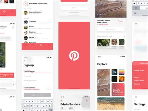 responsive wireframes wireframes pinterest screen iphone ui kit iphone 6 gui 6 plus mockup templates free