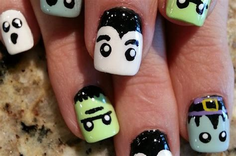 cute halloween nail art ideas     home