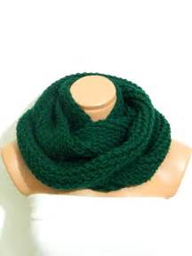 Green Infinity Scarf Knit Infinity Scarf Green Scarf Block Infinity