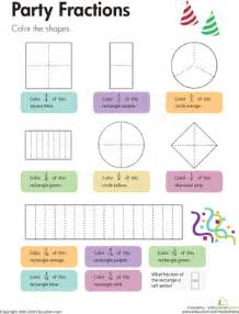 Party fractions worksheet education com