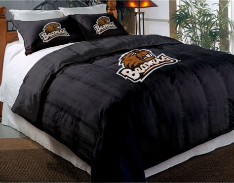 oregon comforter set oregon state beavers college twin chenille embroidered