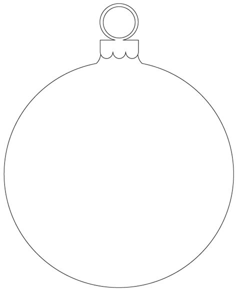 Christmas Ornament Outline Clipart Clipart Suggest Template Of Ornament