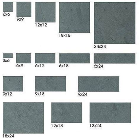 floor tile sizes