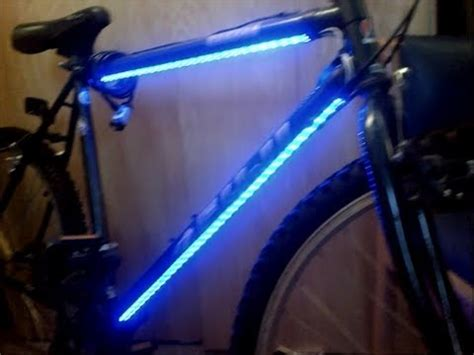 blue lights for bikes bicycle led lights installed simple cheap