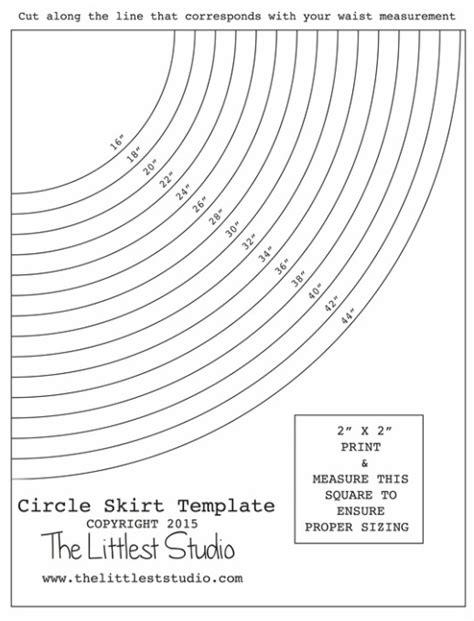 printable toddler skirt pattern circle skirt waist template and instructions no zipper