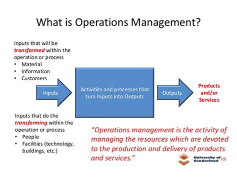 What Is Operations Mba by Pgbm03 Mba Operation Management Session 01 Introduction To