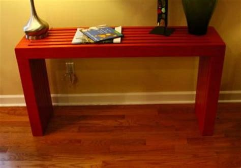 build your own sofa table build your own slat top console table this would be great