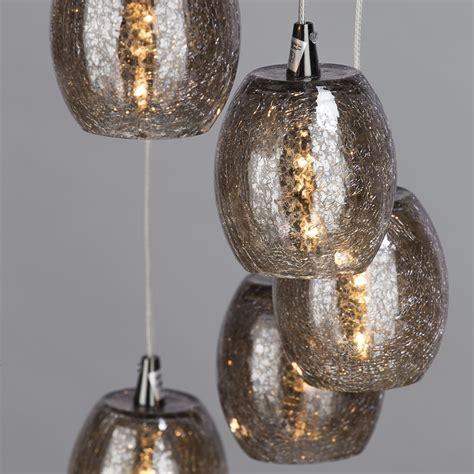 Cluster Pendant Lighting 10 Light Cluster Ceiling Pendant Modern Light Black Chrome Glass Shade Litecraft Ebay