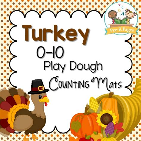 printable thanksgiving playdough mats thanksgiving play dough counting mats pre k pages