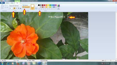 membuat watermark paint reengan cara membuat watermark foto dengan paint