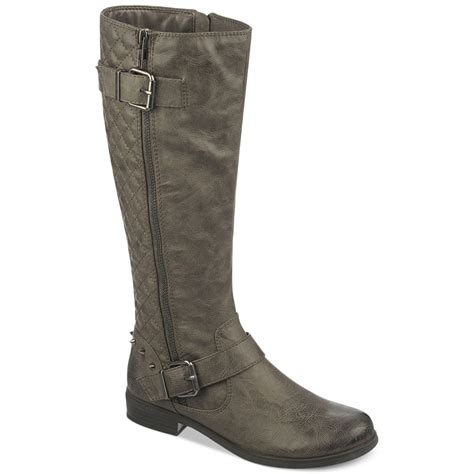 fergie boots lyst fergie fergalicious boots slam shaft boots in gray