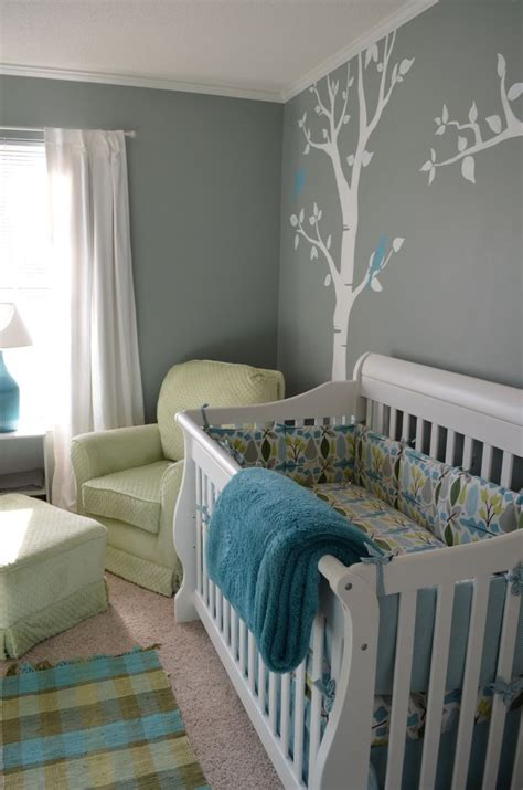 Baby Crib Colors by Grey Green Nursery Wall Color And Chair Color No