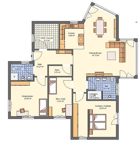 grundriss bungalow exklusiv modern grundris - Moderne Bungalows Grundrisse