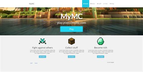 Minecraft Website Template Mymc Free Minecraft Website Template By Rodymol123 On Deviantart