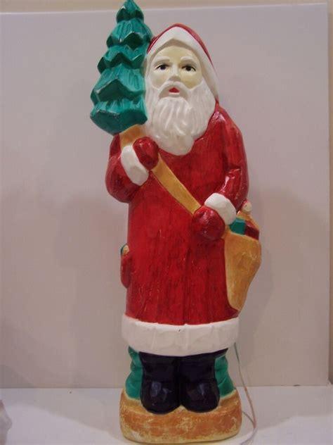 blow mould figure mold yard light decor santa claus world plastic vintage ebay
