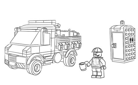 lego ambulance coloring pages 60073 service truck coloring pages lego 174 city lego