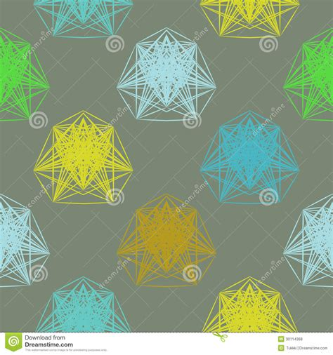 Cd Seamless Flower 3d geometric pattern in colors royalty free stock