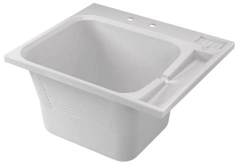 american shower and bath utility sink crane plumbing 100019 dl1 drop in laundry tub white new
