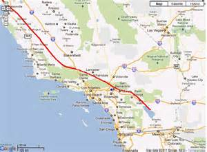 map of san andreas fault in southern california 24 august 2011 pieces everywhere