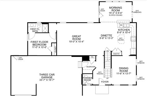 ryan homes floor plans floor plan a palermo with ryan homes