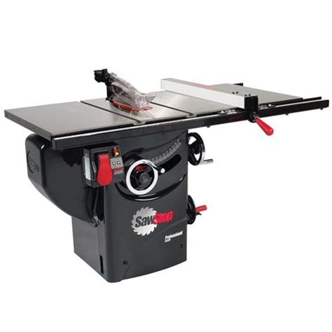 sawstop professional cabinet saw with 30 quot premium rail