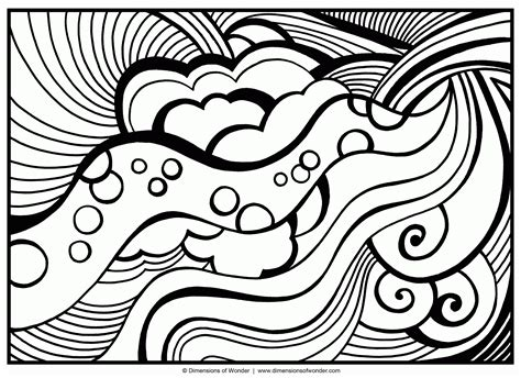 Abstract Coloring Pages Printable by Abstract Coloring Pages For Teenagers Difficult Coloring