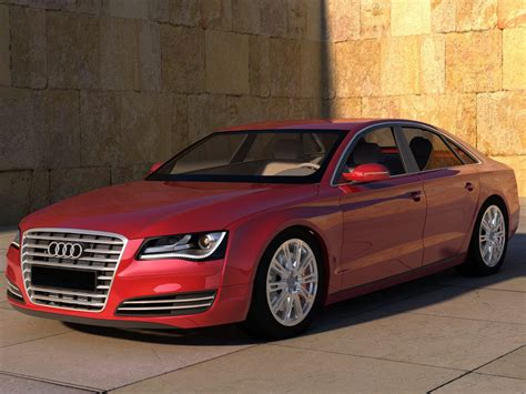 Audi A8 Rot by Audi A8 Wallpaper Background