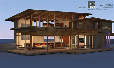 lindal house plans td3 2400 by turkel designs for lindal cedar homes and the dwell homes collection