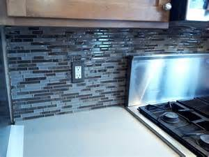 sea glass backsplash tile sea blue green glass stainless